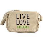 Live Love Reiki Messenger Bag