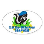 Little Stinker Harold Sticker (Oval 10 pk)
