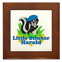 Little Stinker Harold Framed Tile