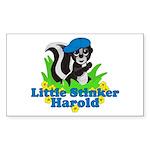 Little Stinker Harold Sticker (Rectangle 10 pk)