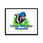 Little Stinker Harold Framed Panel Print
