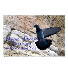Bird in Flight New Year Postcards (Package of 8)