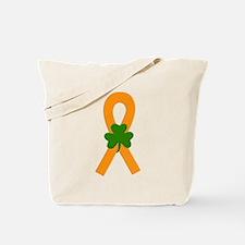 Orange Shamrock Ribbon Tote Bag