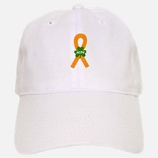 Orange Shamrock Ribbon Baseball Baseball Cap