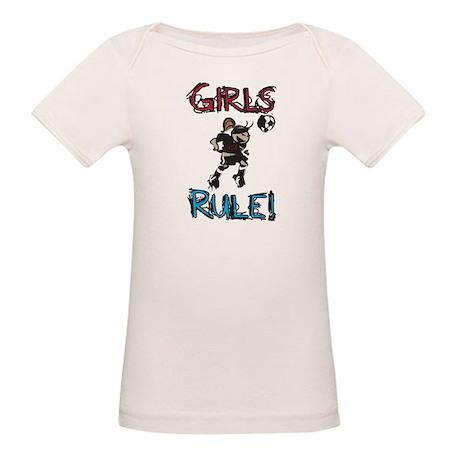 Girlz Rule Organic Baby T-Shirt