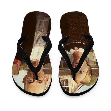 American Gothic Flip Flops