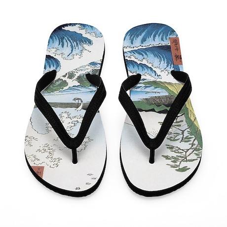 Japanese Seascape Flip Flops