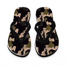 Black Camo Sandal Shoes Flip Flops