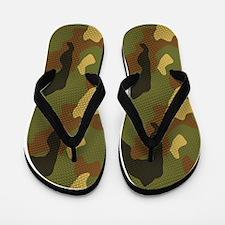 Green Jungle Camo Sandal Shoes Flip Flops