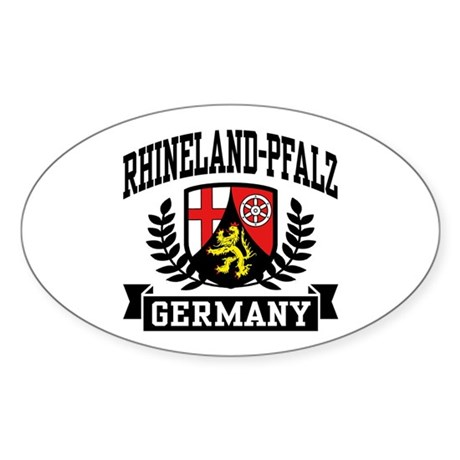 Rhineland Pfalz Germany Sticker (Oval)