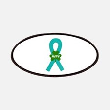 Teal Shamrock Ribbon Patches