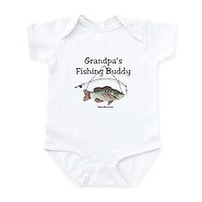 FISHING WITH GRANDPA Infant Bodysuit