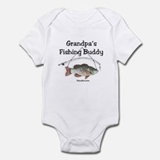 FISHING WITH GRANDPA Infant Bodysuit