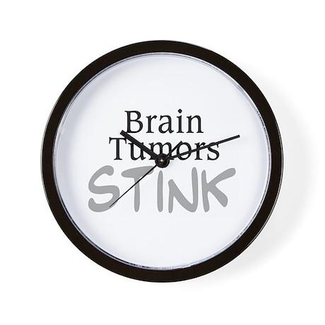 Brain Tumors Stink Wall Clock