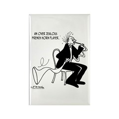 Over Zealous French Horn Player Rectangle Magnet (