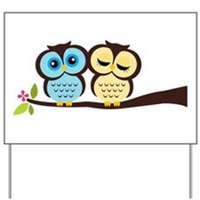 Lovely Owl Couple Yard Sign