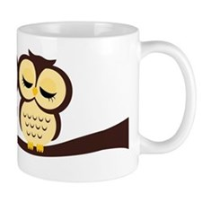 Lovely Owl Couple Small Mug