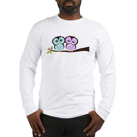 Lovely Owl Couple Long Sleeve T-Shirt