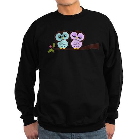 Lovely Owl Couple Sweatshirt (dark)