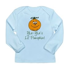 Yia-Yia's Little Pumpkin Long Sleeve Infant T-Shir