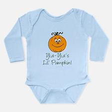 Yia-Yia's Little Pumpkin Long Sleeve Infant Bodysu