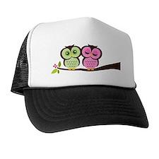 Lovely Owl Couple Trucker Hat