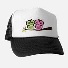 Lovely Owl Couple Trucker Hat