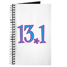 13.1 pink blue flower Journal