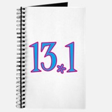 13.1 pink blue flower Journal