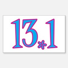 13.1 pink blue flower Decal