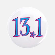 "13.1 pink blue flower 3.5"" Button"
