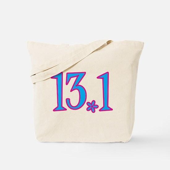 13.1 pink blue flower Tote Bag