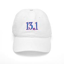 13.1 pink blue flower Baseball Cap