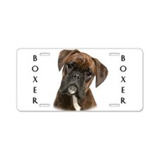 Brindle Boxer Aluminum License Plate