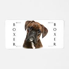 Brindle Boxer Aluminum License Plate