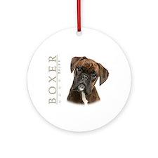 Brindle Boxer Ornament (Round)