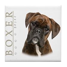 Brindle Boxer Tile Coaster