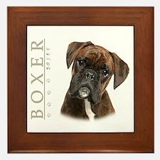Brindle Boxer Framed Tile