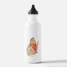 fritillary in flight Water Bottle