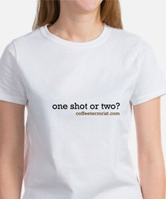 one shot or two? Tee
