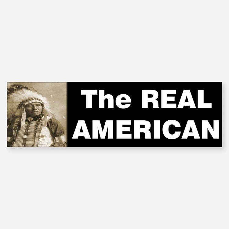 The REAL American Bumper Bumper Sticker