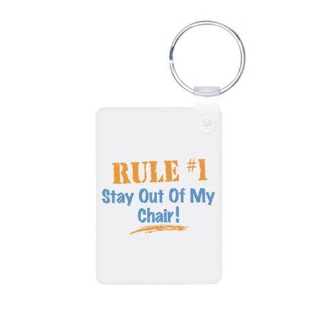Rule #1 Chair Aluminum Photo Keychain