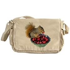 Squirrel with Cranberries Messenger Bag