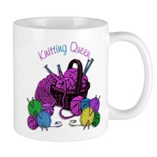 Knitting Queen Small Mug