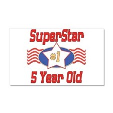 Superstar at 5 Car Magnet 20 x 12