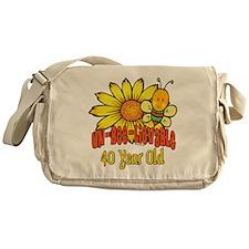 Un-Bee-Lievable 40th Messenger Bag