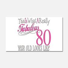 80th Birthday Gift Car Magnet 20 x 12