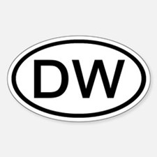 DW - Initial Oval Oval Decal