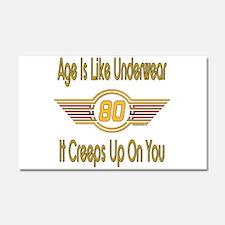 Funny 80th Birthday Car Magnet 20 x 12