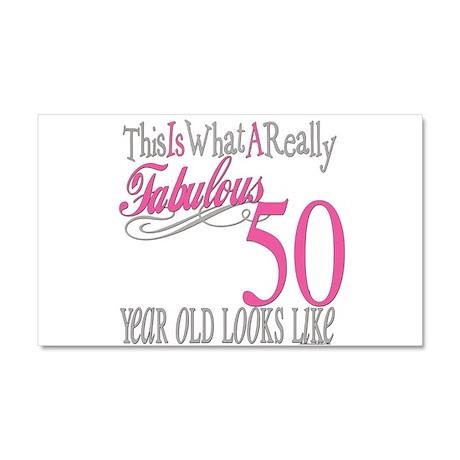 50th Birthday Gifts Car Magnet 20 x 12